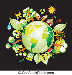 World Concept Background - Recycling World Concept...