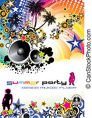 Music Event Discoteque Flyer - Disco Dance Tropical Music...