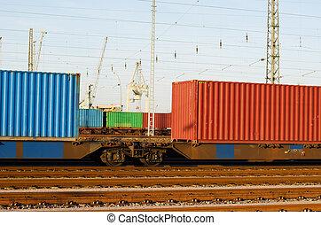 contenedor, tren
