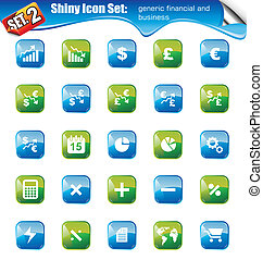 Shiny Icons -SET 2 - SET 2 - Shiny Icons: Generic IFinancial...