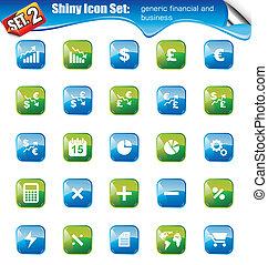 Shiny Icons -SET 2 - SET 2 - Shiny Icons: Generic IFinancial...