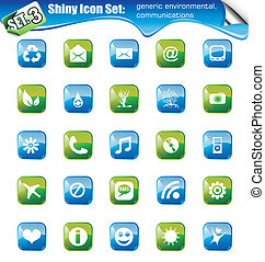 Shiny Icons - SET 3 - SET 3 - Shiny Icons: Generic...