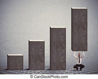 Help statistics - Businessman help negative statistics of...