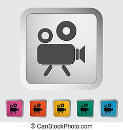 Videocamera Single icon Vector illustration