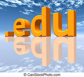EDU Top Level Domain - Computer generated 3D illustration
