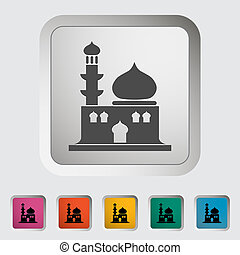 Mosque Single icon Vector illustration