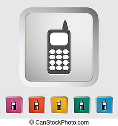 Phone single icon. Vector illustration.