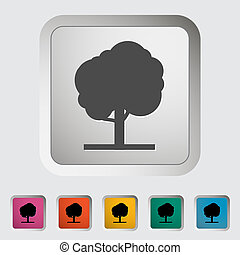 Tree Single icon Vector illustration