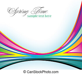 Spring Delicate Background with Rainbow Colours