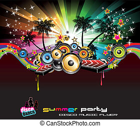Tropical Background for Music Flyers - Tropical Summer Disco...