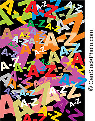letters background - interesting colored letters on the...