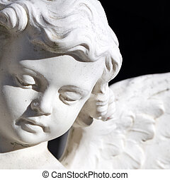 angel face - detail of artistic sculpture, Italy