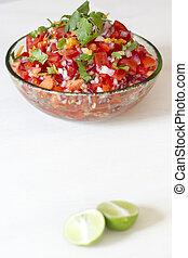 Salsa and Lime - Roasted Habanero salsa
