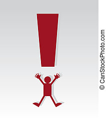 Exclamation Mark Figure - Red exclamation mark figure...