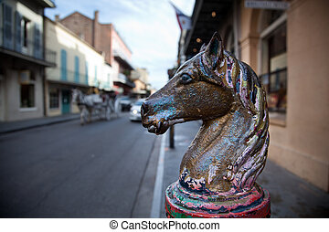 Equine - French Quarter in New Orleans, Luisiana.