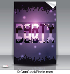 Concept party type on smoth background vector