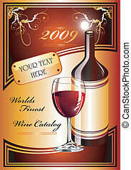 Wine Catalog Flayer background - Cover for a catalog of...
