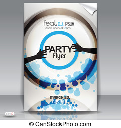 Modern party flyer