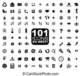 101 Icons Collection - General. Internet, Mulstimedia,...