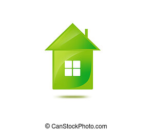 illustration of green house - illustration or closeup...