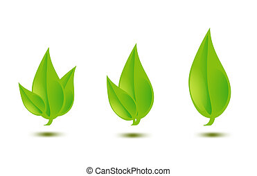 illustration of green leaves - closeup picture or...