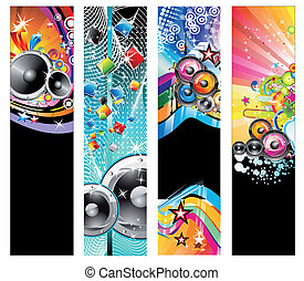 Colorful Discoteque Flyer - Rainbow Colorful Discoteque...