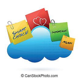 posts Cloud computing concept illustration design over white