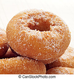 rosquillas, typical spanish donuts - closeup of a pile of...