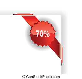 Red Sales Tag - Promotional Sales Tag with Place for text