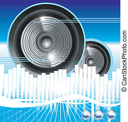 Music equalizer background - Big speaker equalizer sound...