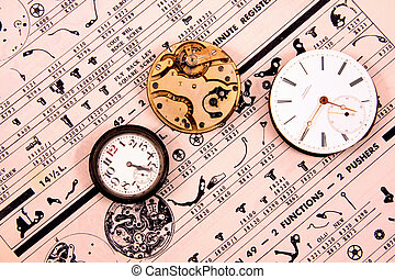 Vintage Watch Movements - Vintage watch movements on vintage...
