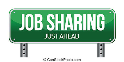 job sharing sign illustration design over a white background