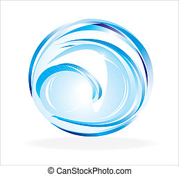 Abstract Shape - Blue and glossy abstract 3D shape