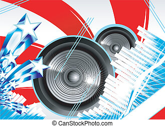 Abstract Us flag for music background - Us flag theme Big...