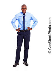 young African businessman full length