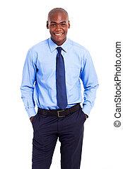 africano, norteamericano, hombre de negocios