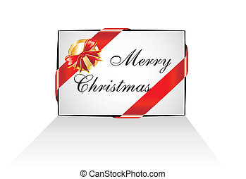 Christmas Email Message Icon - Colorful Red and Gold...