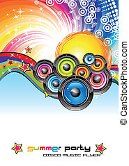 Music Colorful Background for Flyers - colorful Abstract...