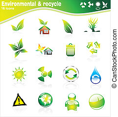 Environmetal Icon Set - Collection of ecology and...