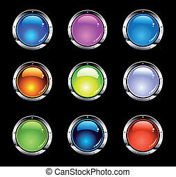 Colorful Website Shiny Buttons