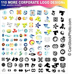 Set of 110 more logos - A big collection of 110 more company...