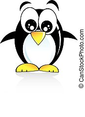 Penguin Cartoon Style - Colorful Cartoon Style funny penguin