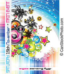 Tropical Music Flyer - Disco Dance Tropical Music Flyer with...
