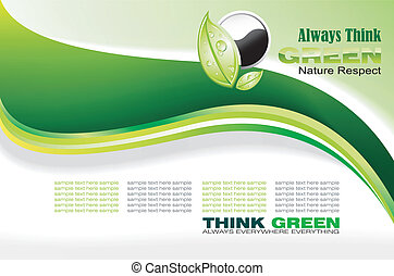 Always Think Green Card - Abstract Environment Green and...