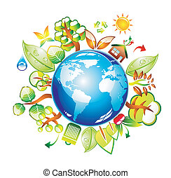 Environment Style and ecology World Icon