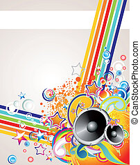 Music Colorful Abstract Background - Dance and Music Event...