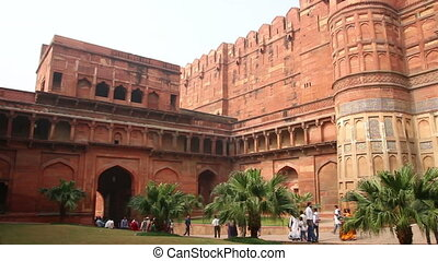main gates in Agra fort - India