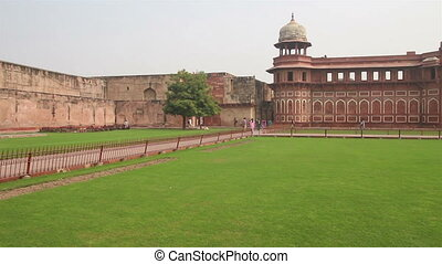 historic buildings in Agra fort - India