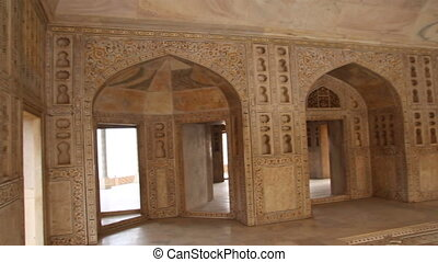 palace interior in Agra fort - India