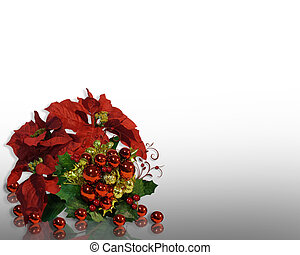 Christmas Background Flowers